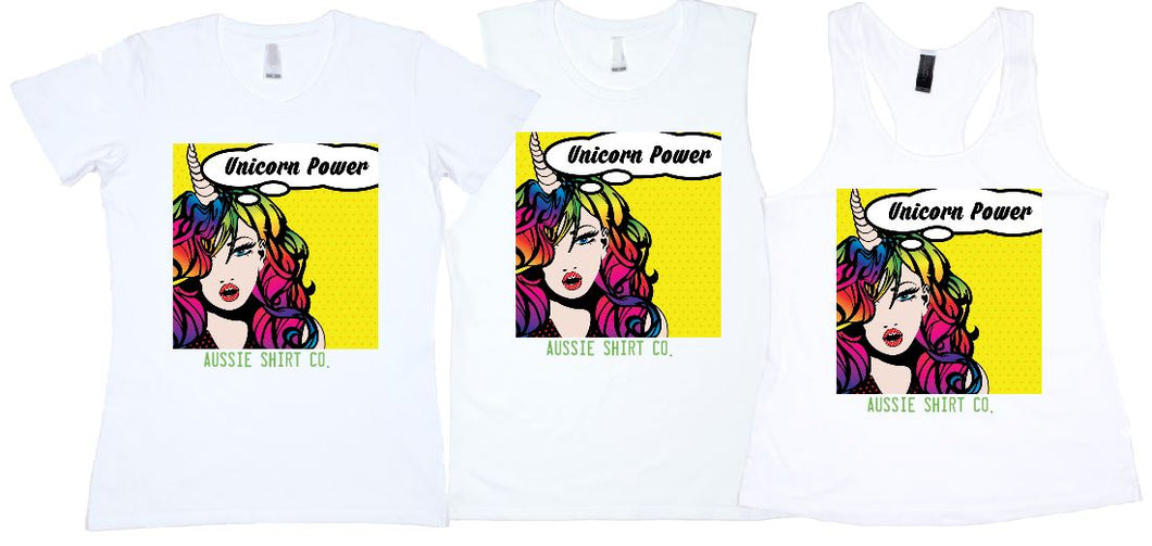 UNICORN POWER PRINT - aussie-shirt-co