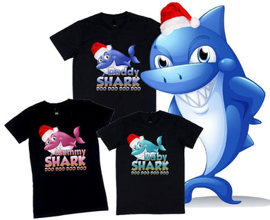 Christmas Hat Shark Family Doo Doo Doo Doo Doo - aussie-shirt-co