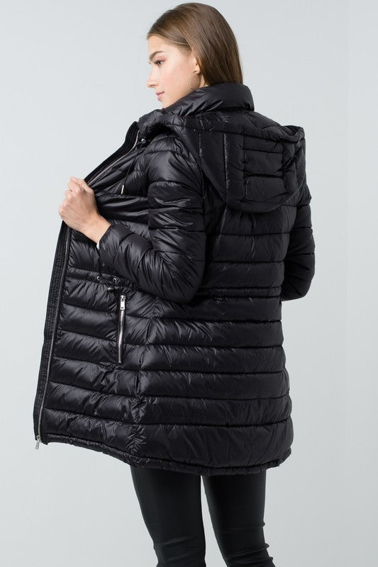Long Lightweight Puffer Jacket