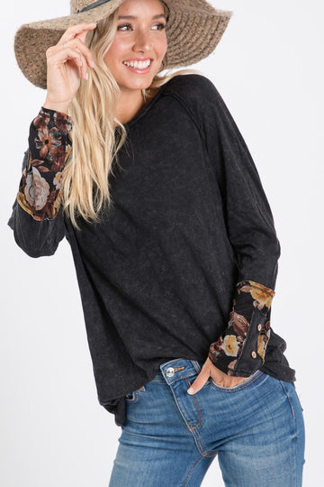 Mineral Wash Fall Sleeve Top-3
