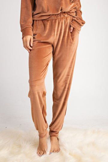 Velour Pumpkin Spice Lounge Pants