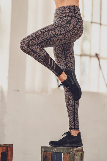 High waisted leopard Active Pants
