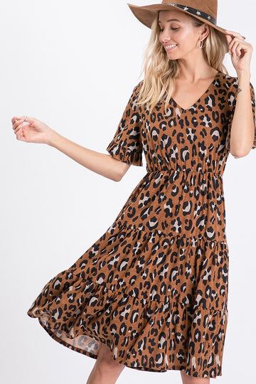 Jersey Safari Midi Dress