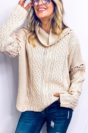 Knot Sleeve Detail Sweater