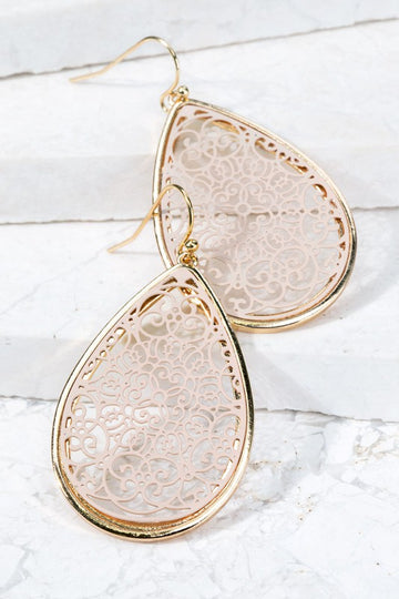 Get Both Colors in these Filigree Earrings Both beautiful gold tones!  One Natural contras and one White Contrast! These stunning and lightweight earrings are a perfect for everyday accessorizing.  2