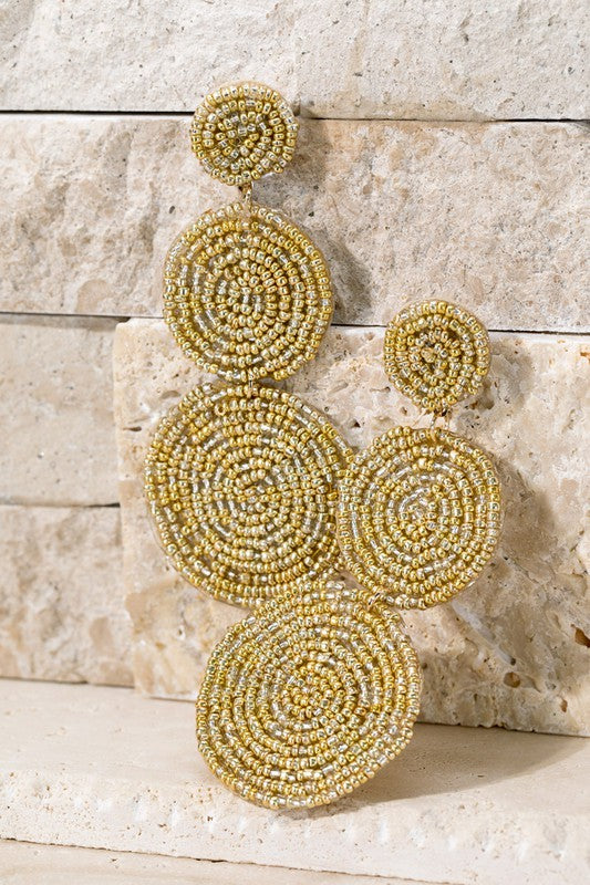 Triple Drop Seed Bead Earrings