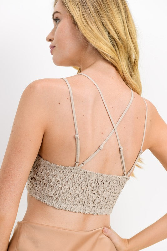 Lace Adjustable Strap Bralette