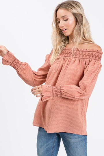 Off Shoulder Rose Top