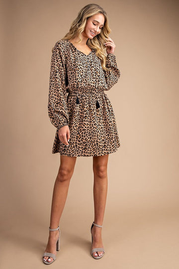 leopard print dress, work dress, party dress, leopard print style