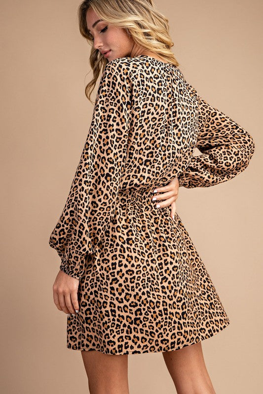 Leopard Print Tassel  Dress