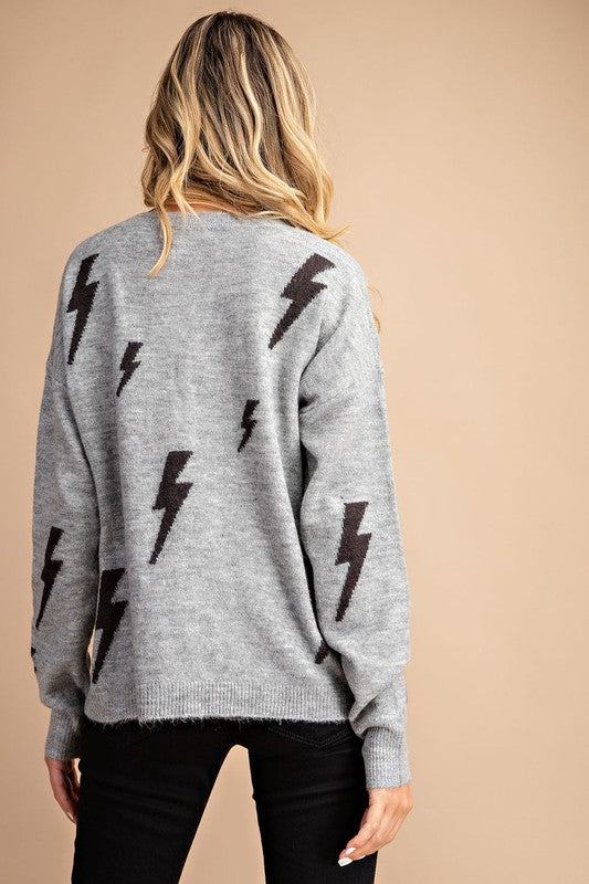 Thunderbolt Gray Sweater-2