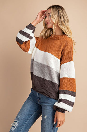 Butterscotch & Toffee Striped Sweater