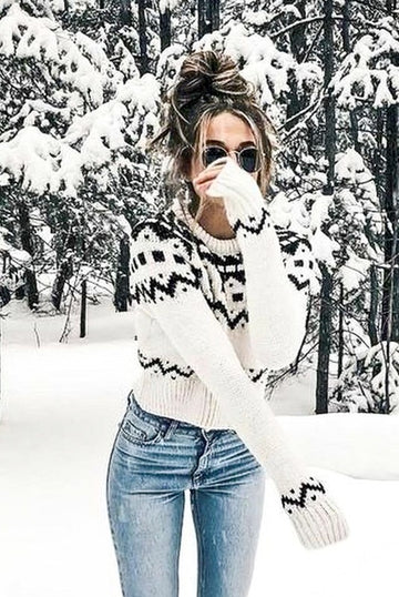 Black & White Zipper Sweater