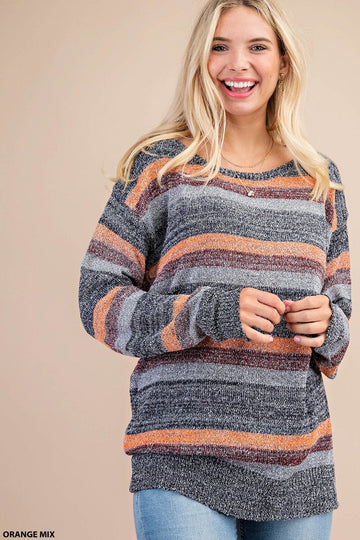 Fall Mix Print Pullover