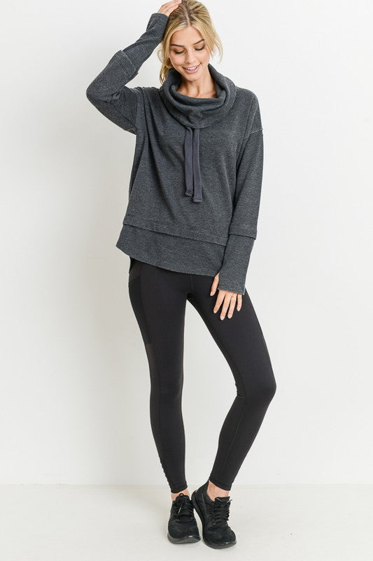 Black Mineral Wash Pullover