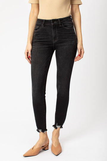 High Rise Black Skinny Denim