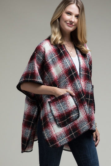 Perfectly Plaid Pocket Cardigan