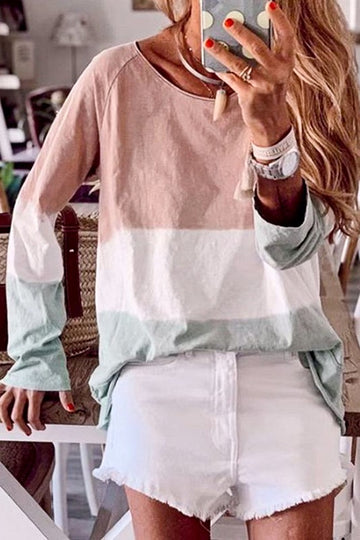 Peach Mix Long Sleeve Top