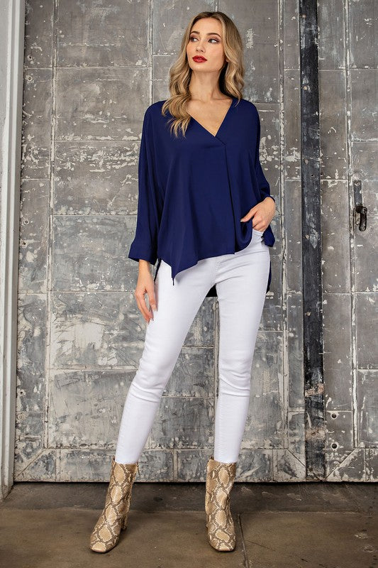 Navy City Chic Top