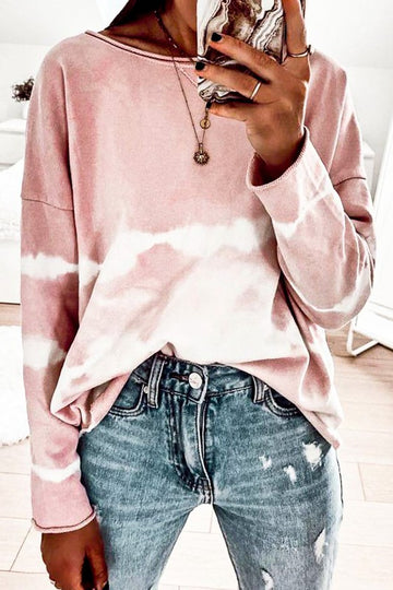 Dusty Pink Raw Edge Top
