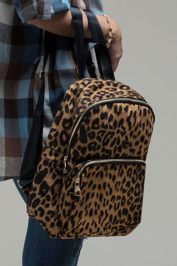 The ultimate backpack for those animal print lovers out there! Pairs well with almost all your casual styles. Limited Edition.   Zipper Main Closure Additional Inner and Outer Slip Pocket and enclosures Inner Zipper Pocket Approx H 6 1/4