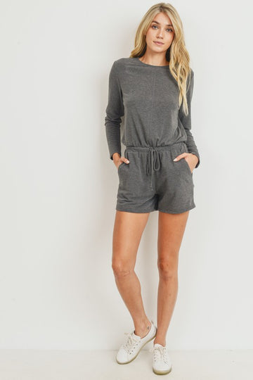 Charcoal Long Sleeve Romper