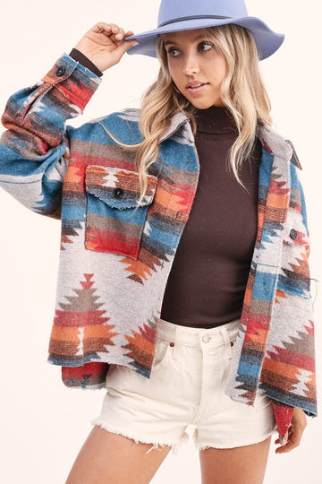 Soft and Comfy Aztec Jacket This seriously soft and cool jacket will up your Fall outerwear game! Throw this easy fitting jacket over your favorite tops and jeans for an easy and effortless Fall vibe! Poly/Span. Model is approx 5'8