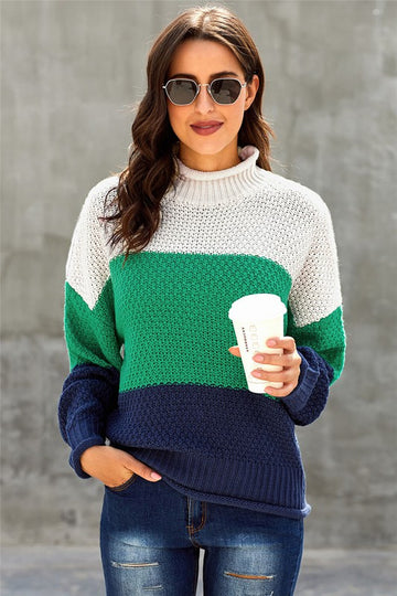 Green and Blue Stripe Sweater