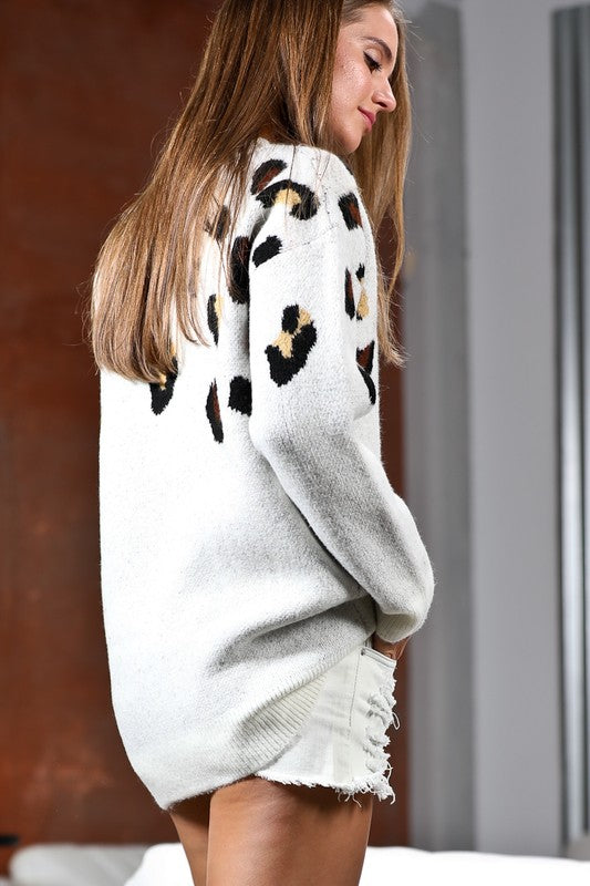 Off White Animal Print Sweater