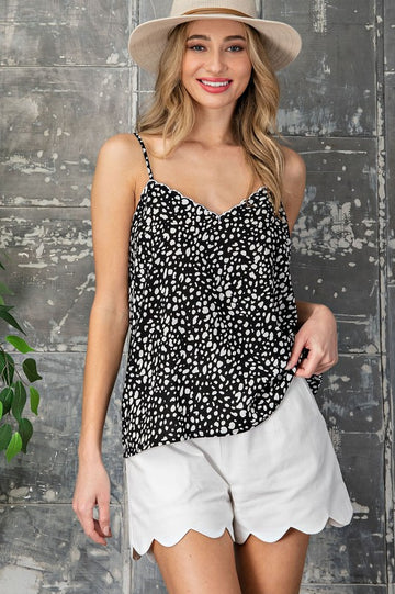 Black & White Scallop Cami