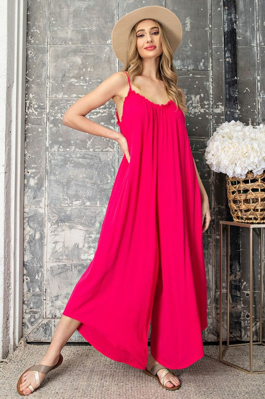 Hot Pink Jumpsuit