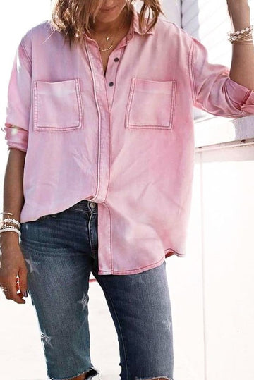Dusty Pink Button Down Top