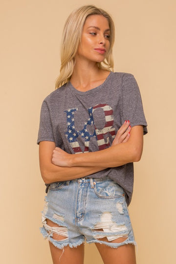 Patriotic LOVE Graphic Tee
