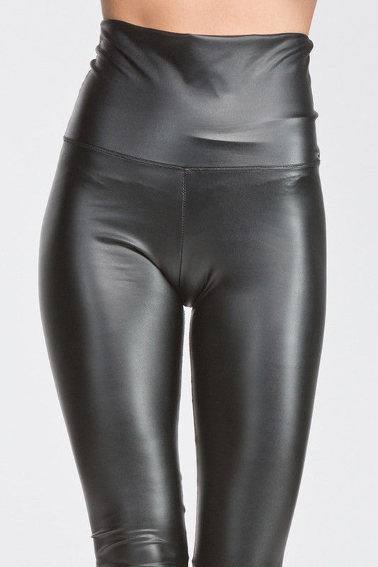 Faux Pleather Liquid Leggings