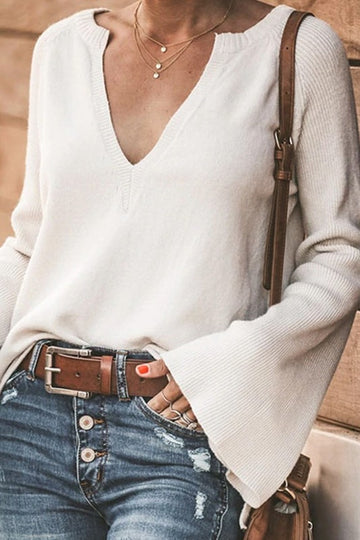 Winter White Classic Chic Sweater
