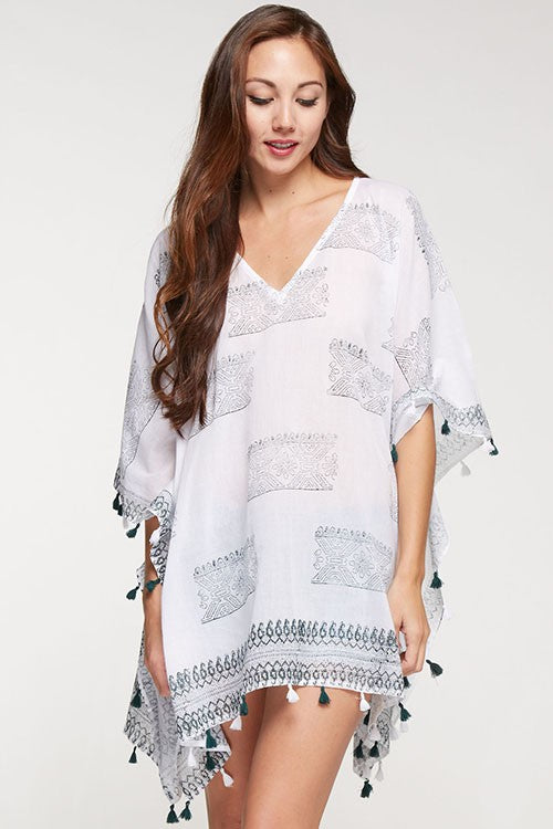 White Caftan/Cover Up