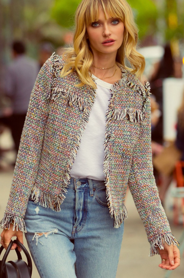 Multi Color Tweed Jacket