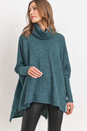 Green Poncho Sweater