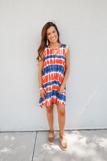 Peek a Boo Tie Dye Dress