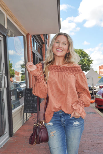 Off Shoulder Clay Top