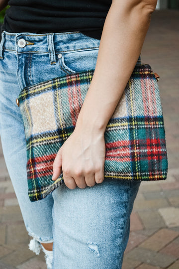 Tartan Cross Body/Clutch Bag