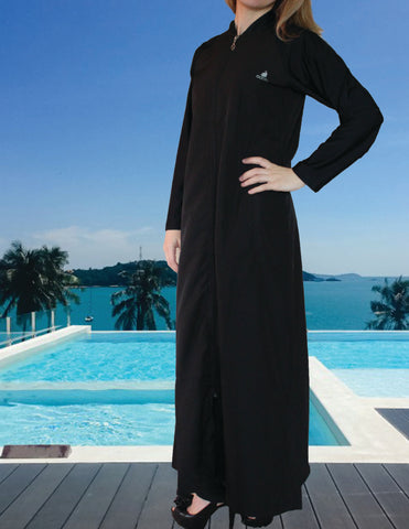 AdabKini Acelya, Muslim Women's Long Swim Cover ups, Islamic Full Cover Modest Swimwear Beachwear Bathing suit Active