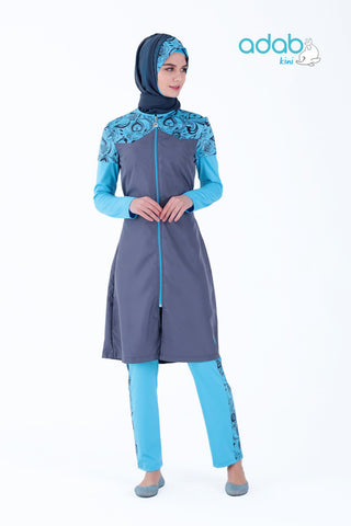 Adabkini Cicek burkini swimsuit full cover modest swimwear bathing suit Active