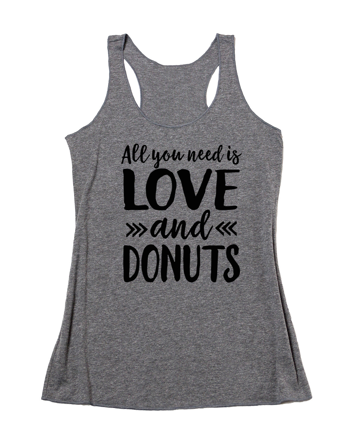 646f172554986c All You Need Is Love and Donuts Tank. Donut Shirt. Funny Valentine s Day  Shirt ...