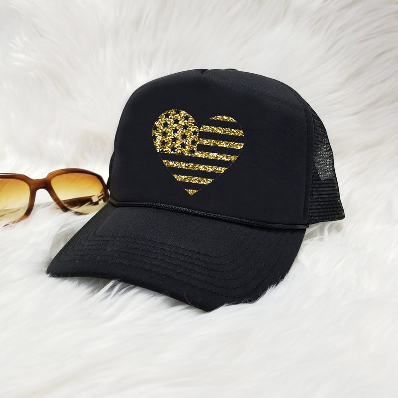 Glitter Heart USA Snapback hat. 4th of July. Summer Hat. Merica Lips ... ad639bed9e29