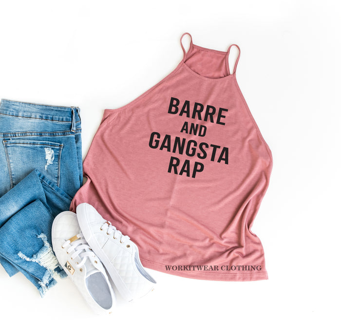 Barre and Gangsta Rap. Barre Tank Top. Gangster Rap. Handle It. Yoga Tank. Workout Tank. Fitness Tank. Yoga Gangsta Rap. Get It Done. Barre.