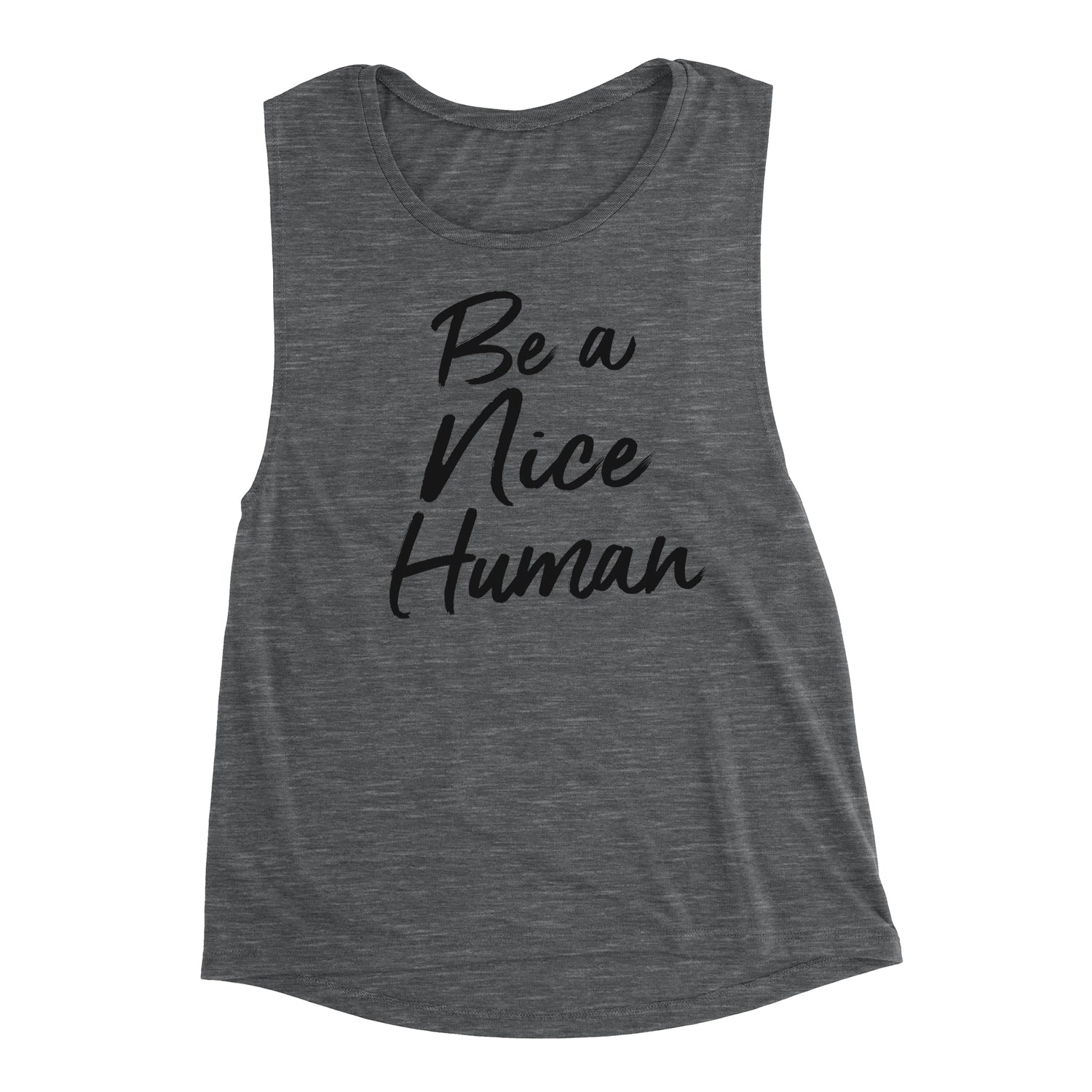 Be A Nice Human Muscle Tank Top. Yoga Tank. Be Nice. Be Kind. Kindness is Gangster. Workout Tank. Fitness Tank. Inspiration. Stop Bullying. Always Be Kind