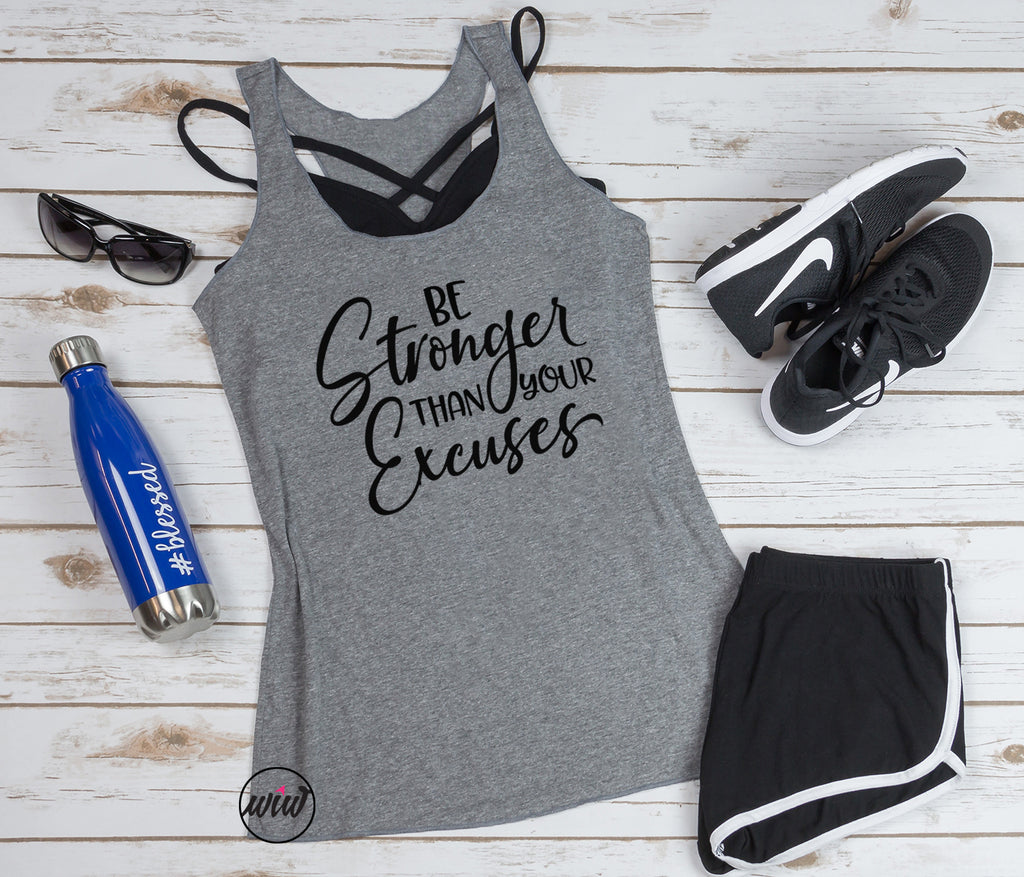 Be Stronger Than Your Excuses Tank. Get It Done. Girl Boss. Handle It. Yoga Tank. Workout Tank. Gym Shirt Fitness Tank