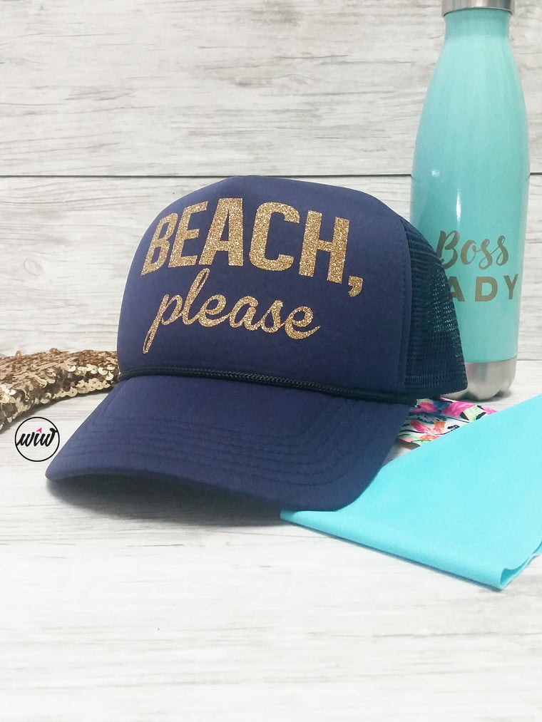 Beach Please Snapback hat. Summer Hat. Vacay. Hawaii. Girls Getaway. Bachelorette Party. Yoga. Volleyball. Aloha Beaches. Mermaid. Summer.