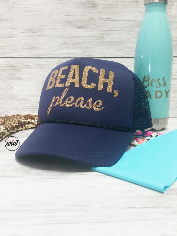 2e9f6798131cd Beach Please Snapback hat. Summer Hat. Vacay. Hawaii. Girls Getaway.  Bachelorette ...